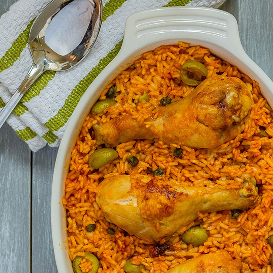 Arroz con Pollo (Puerto Rican Rice with Chicken)