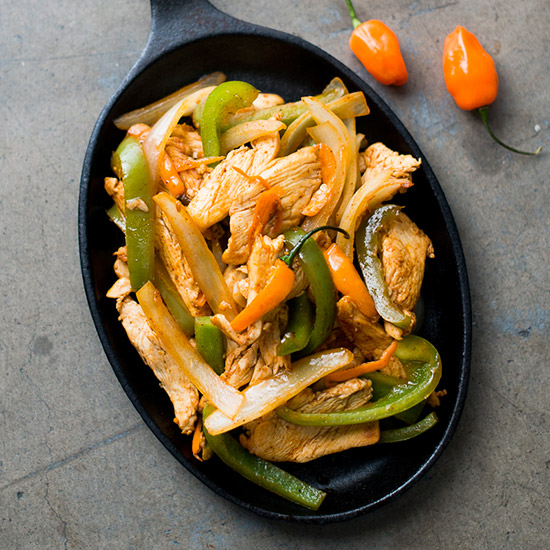 Hot Habanero Chicken Fajitas