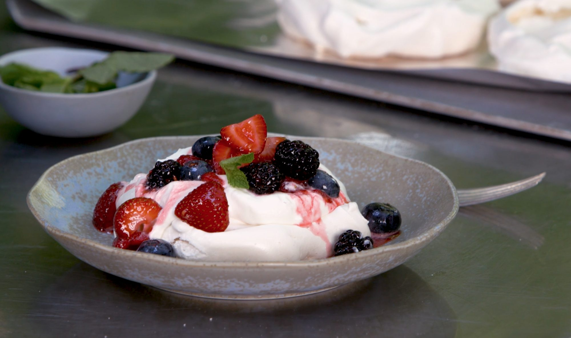 Grilled Summer Pavlovas