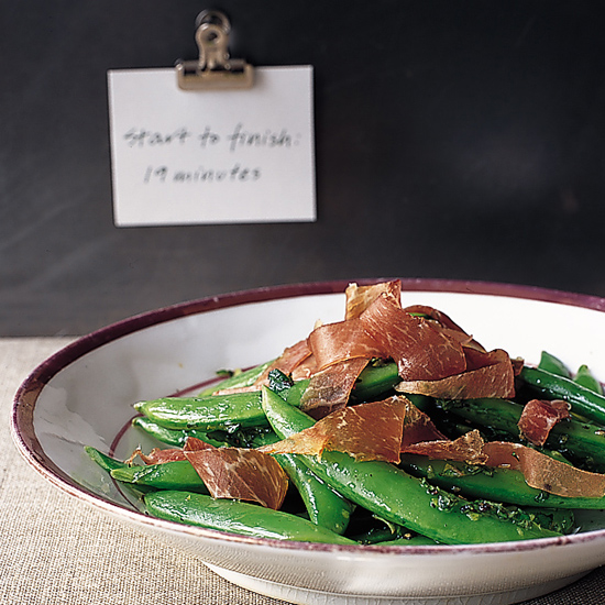 Sugar Snap Pea and Prosciutto Salad