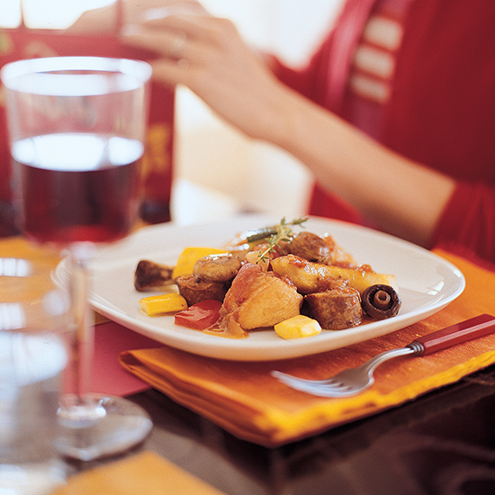 Ragout of Chicken with Potatoes and Chorizo