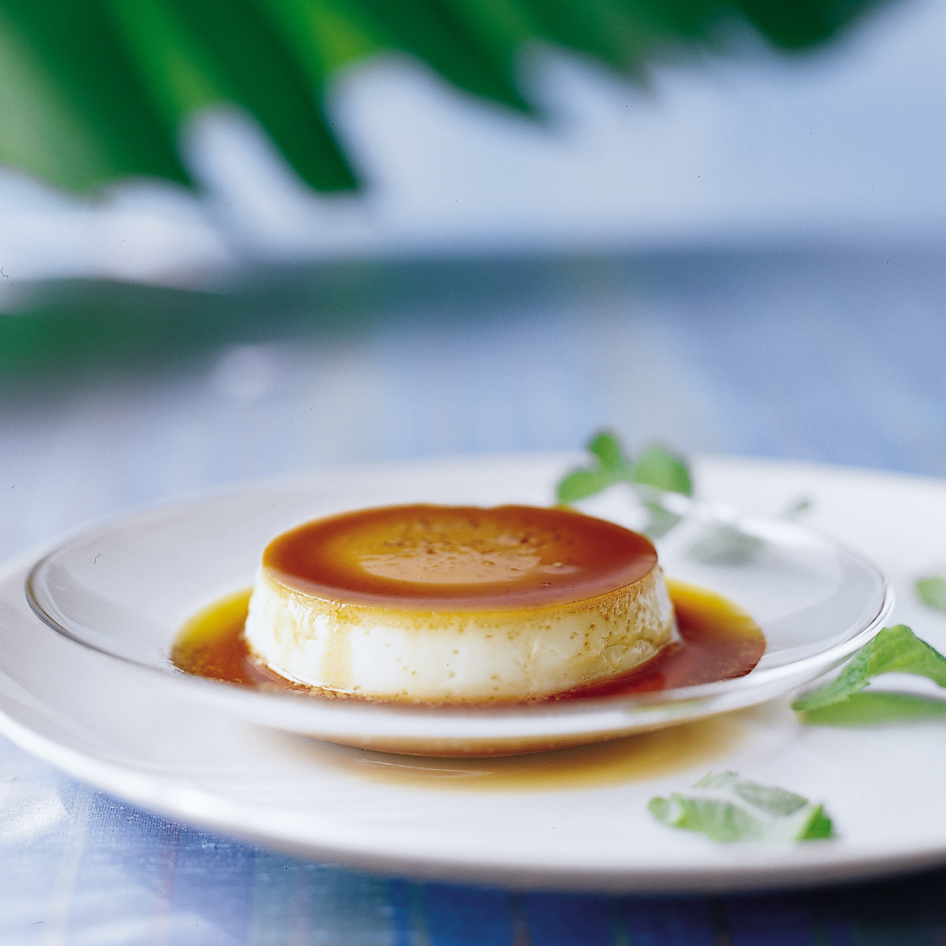 Coconut Flans with Rum
