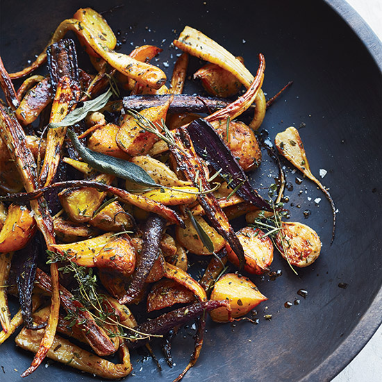Roasted Root Vegetables with Tamari