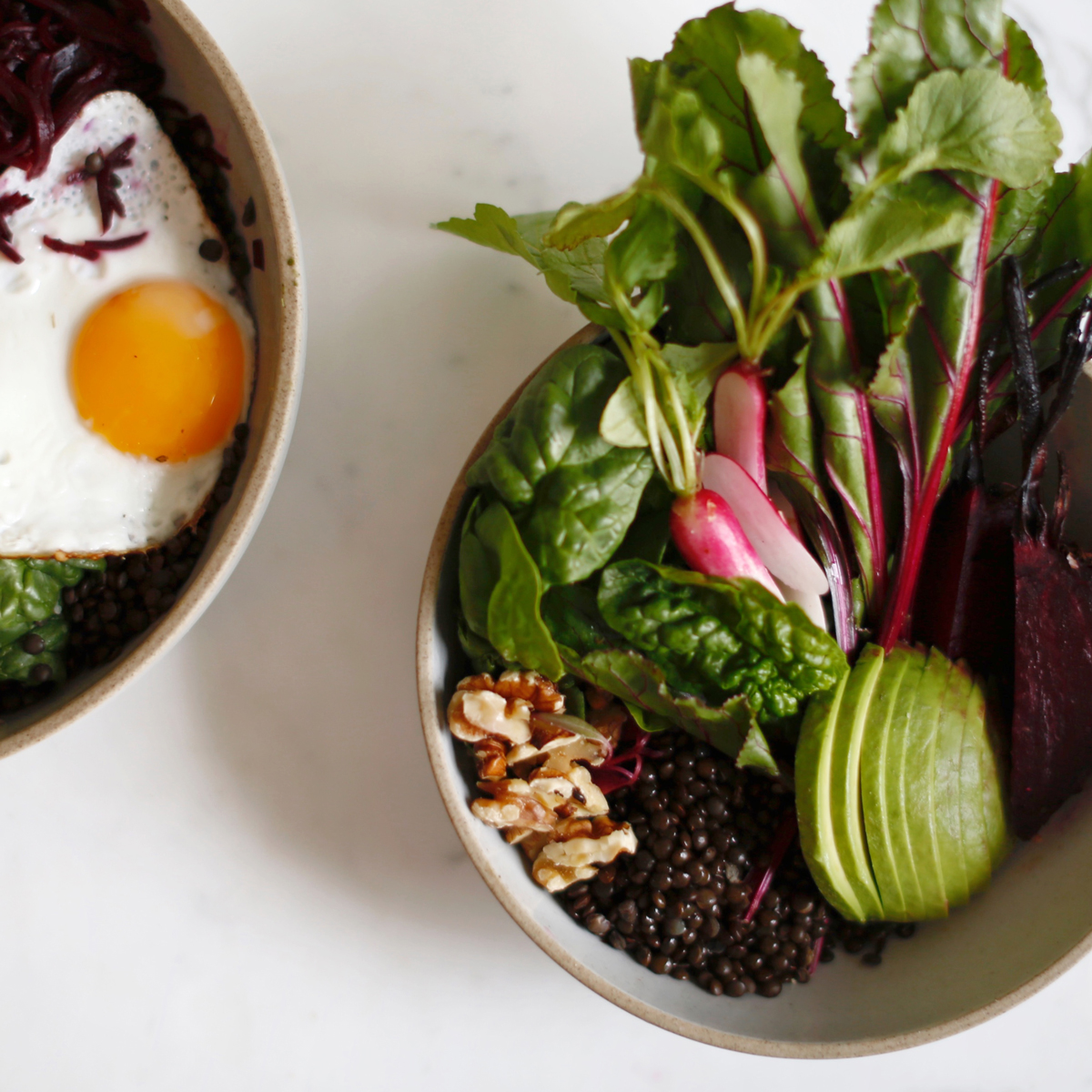 Brain Food Bowl with a Coconut-Fried Egg