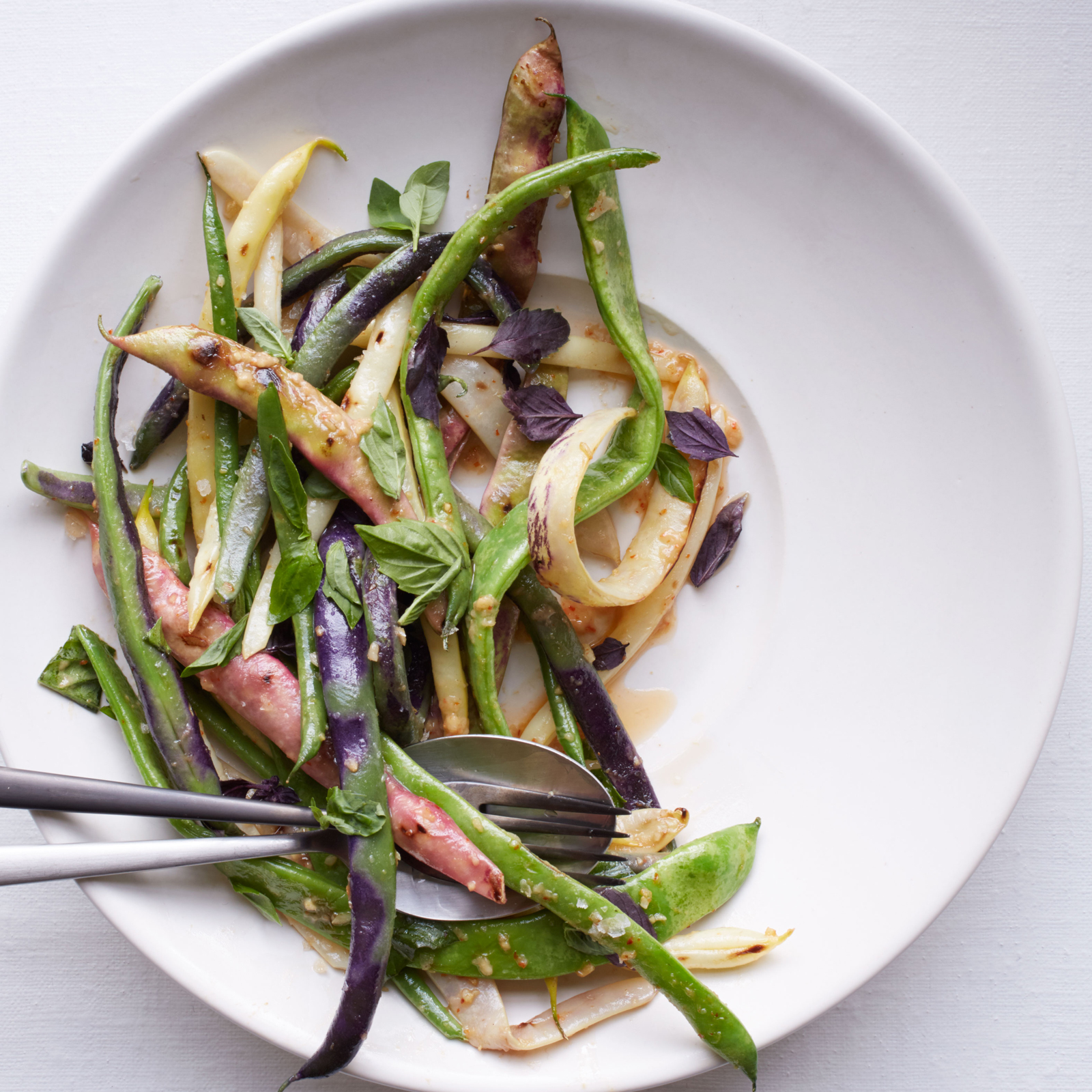 Summer Bean Salad with Roasted Garlic Vinaigrette