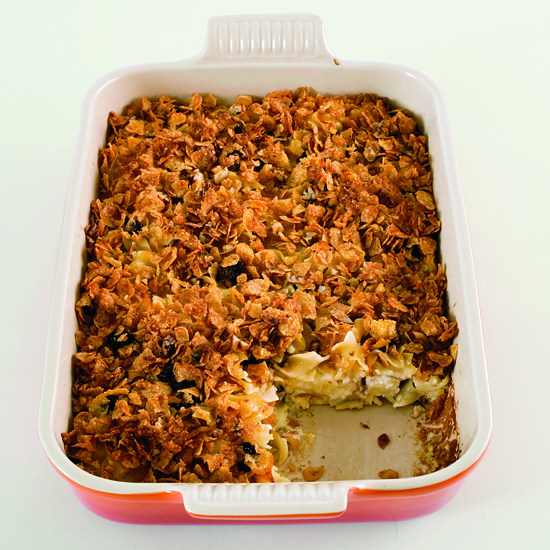 Sweet Noodle Kugel with Dried Cherries