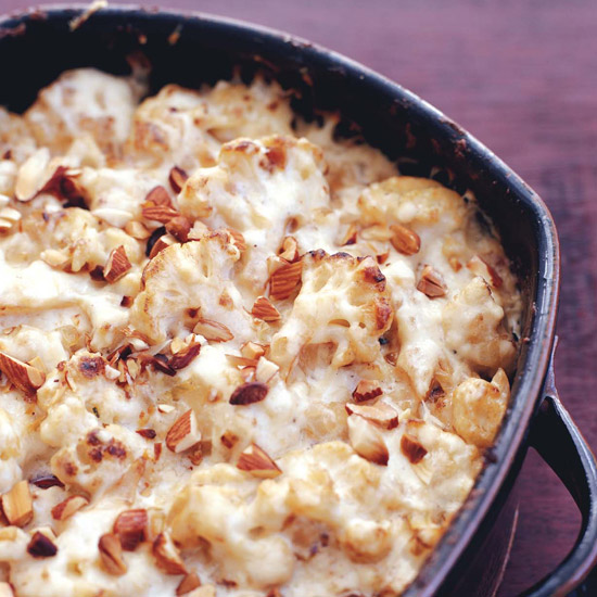 Cauliflower Gratin with Manchego and Almond Sauce
