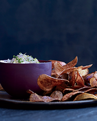 Potato Chips with Whipped Beurre Blanc