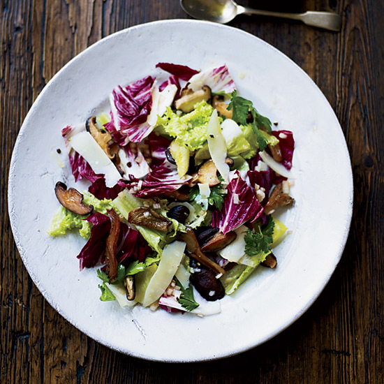Warm Chicory Salad with Mushrooms