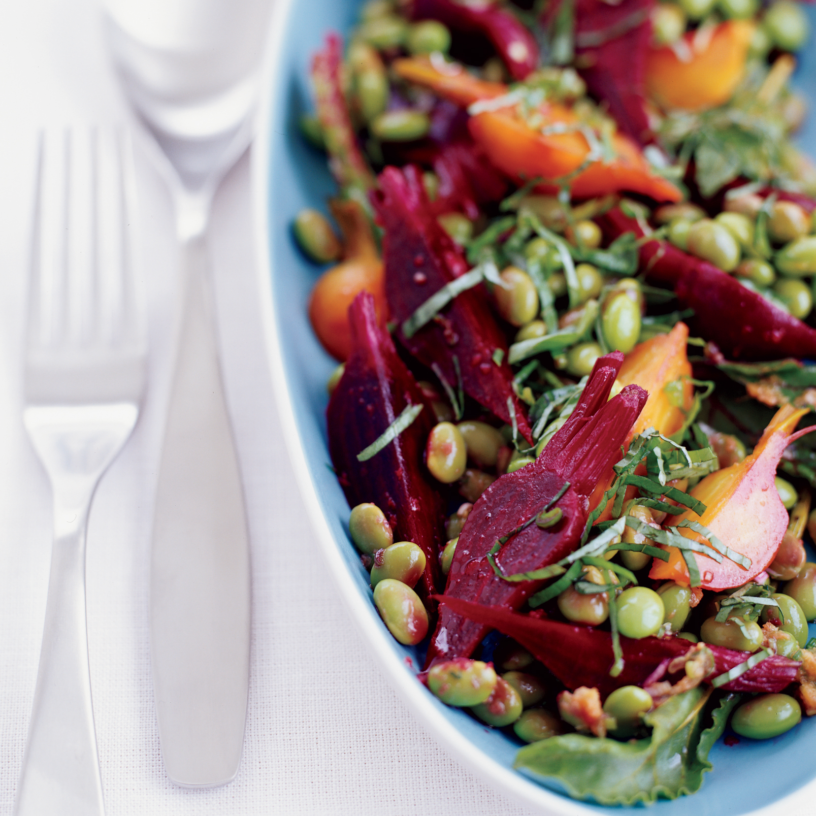Edamame Salad with Baby Beets and Greens