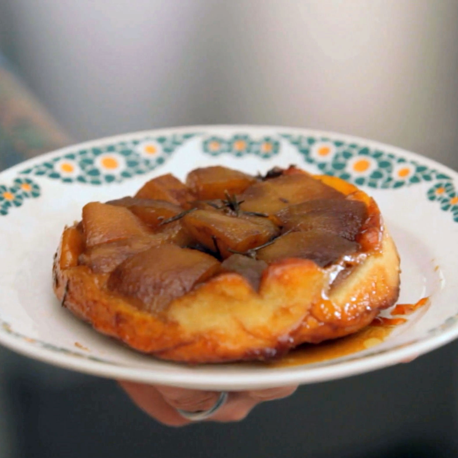 Tarte Tatin with Vanilla Ice Cream