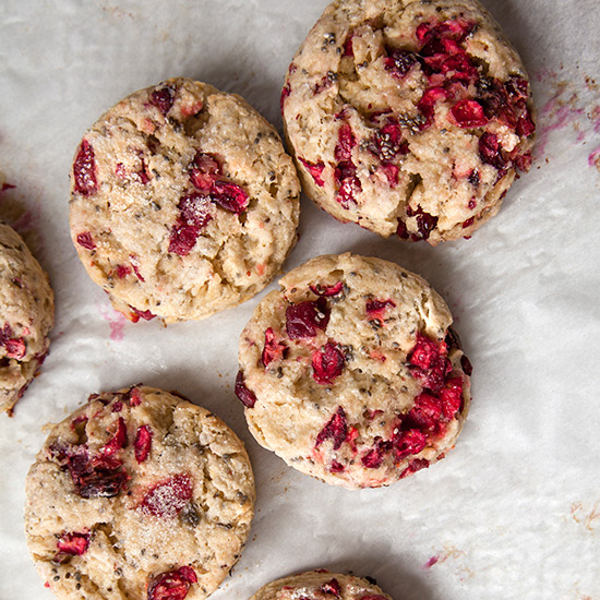 Cranberry-Chia Seed Scones