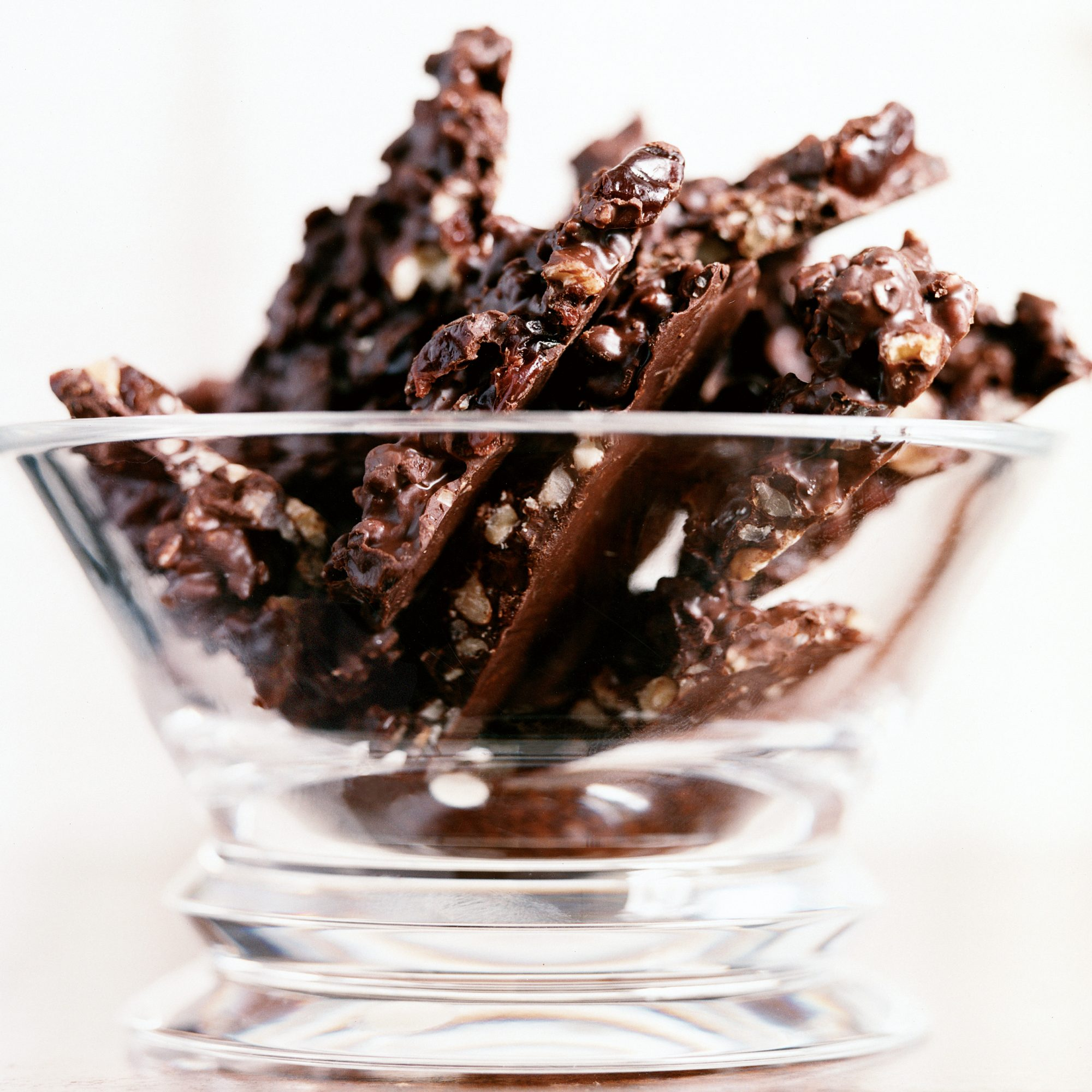Dark-Chocolate Bark with Walnuts and Dried Cherries