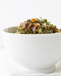 Warm Lentil and Ham Salad