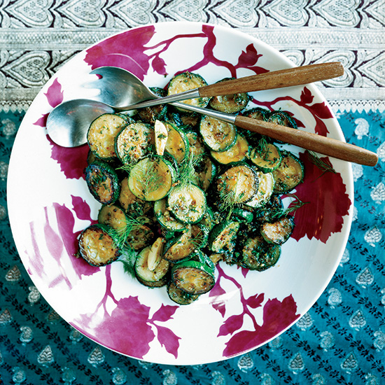 Sautéed Zucchini with Ginger and Dill