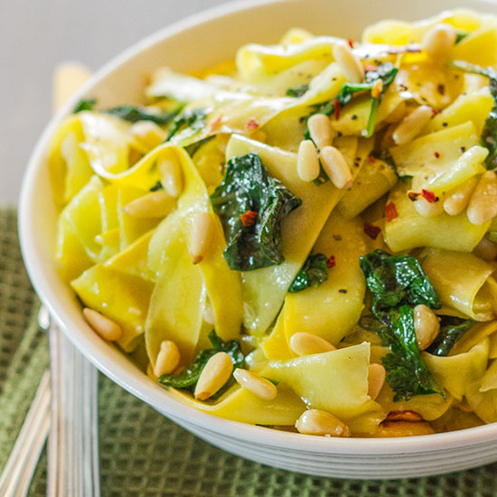 Sautéed Yellow Squash with Basil and Pine Nuts