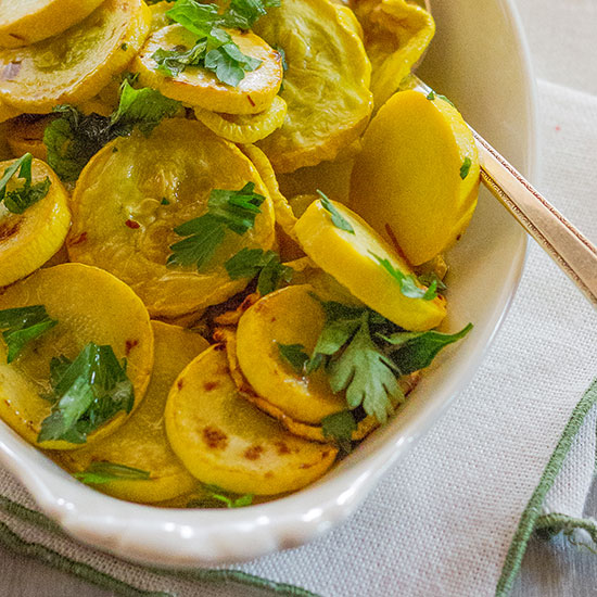 Sautéed Yellow Squash with Fresh Herbs