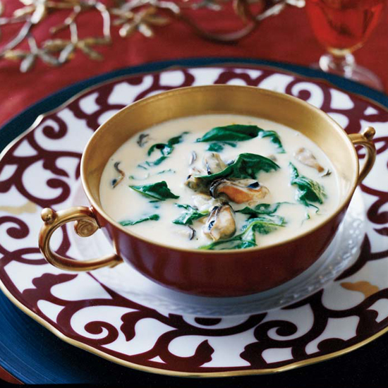Mussel-and-Spinach Bisque