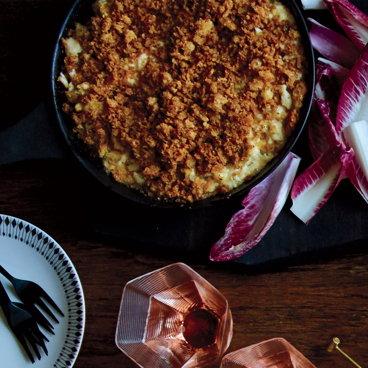 New England–Style Crab Dip with Brown-Butter Crumbs