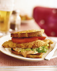 Fried Catfish Sandwiches with Chipotle-Honey Mayo