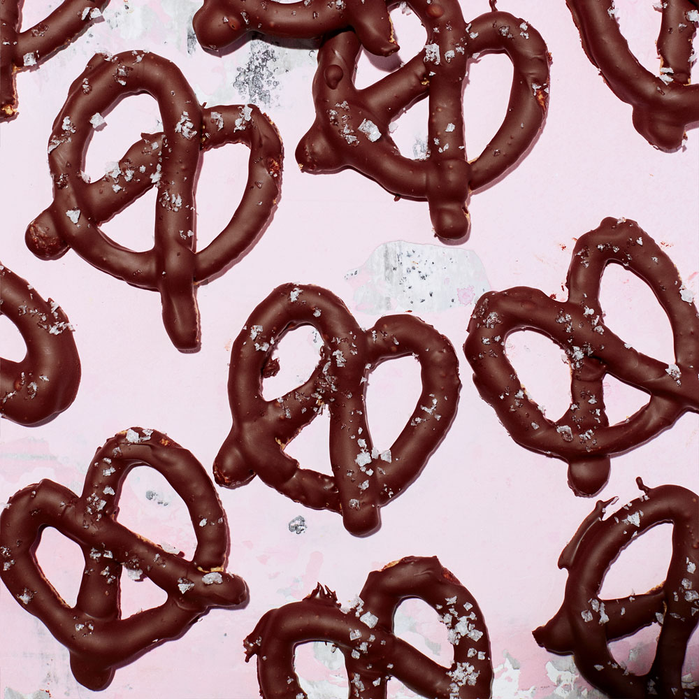 Chocolate Pretzels with Sea Salt