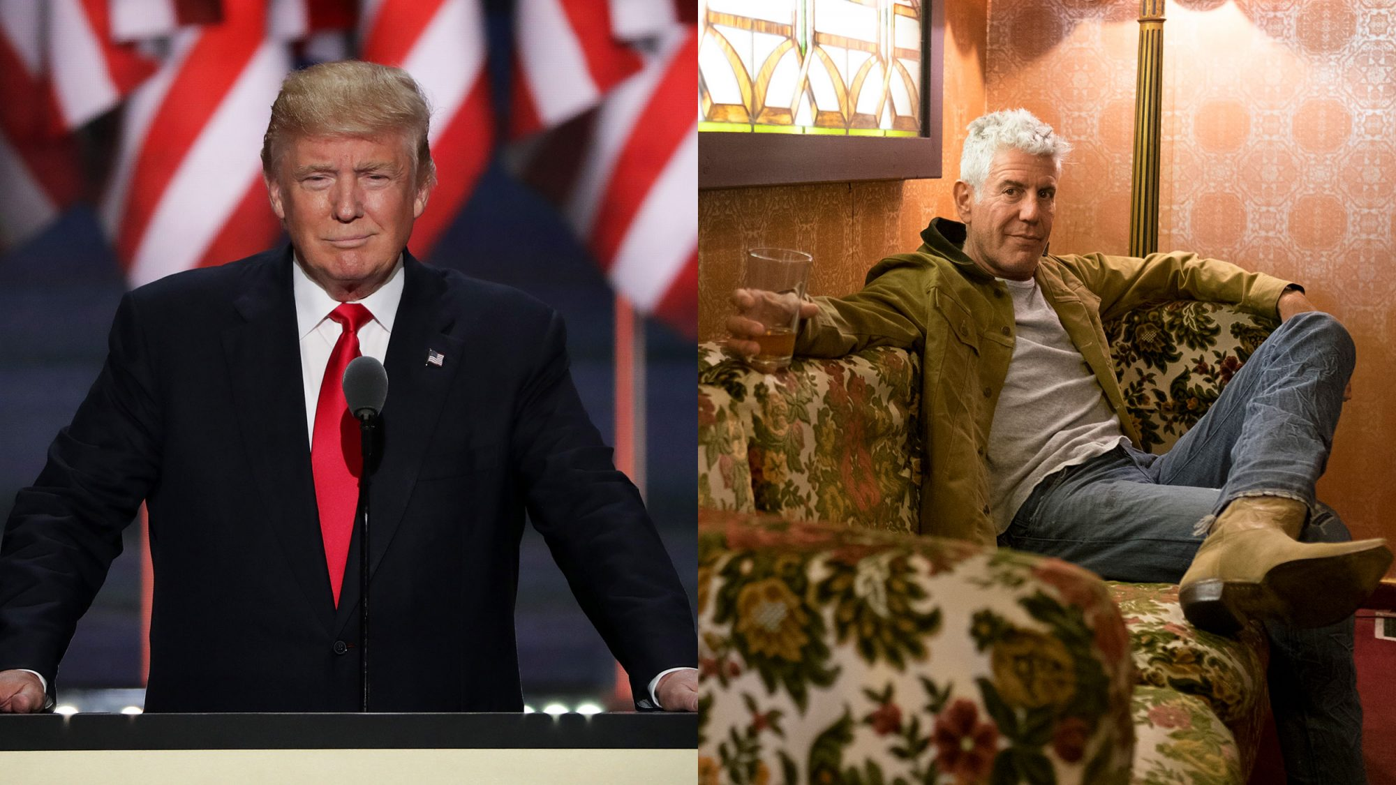 Donald Trump, Anthony Bourdain