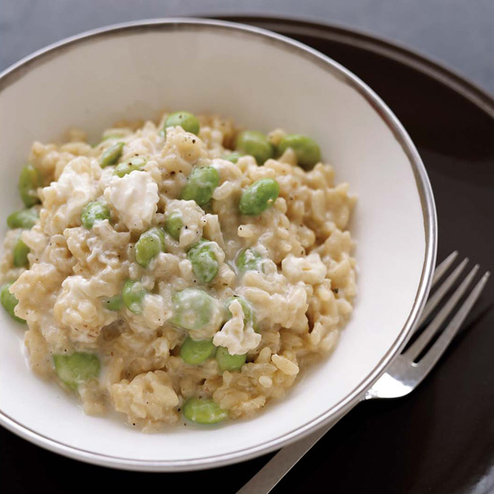 Creamy Risotto with Edamame