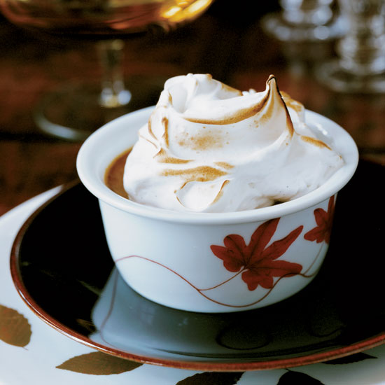 Pumpking Pudding with Mile-High Meringue