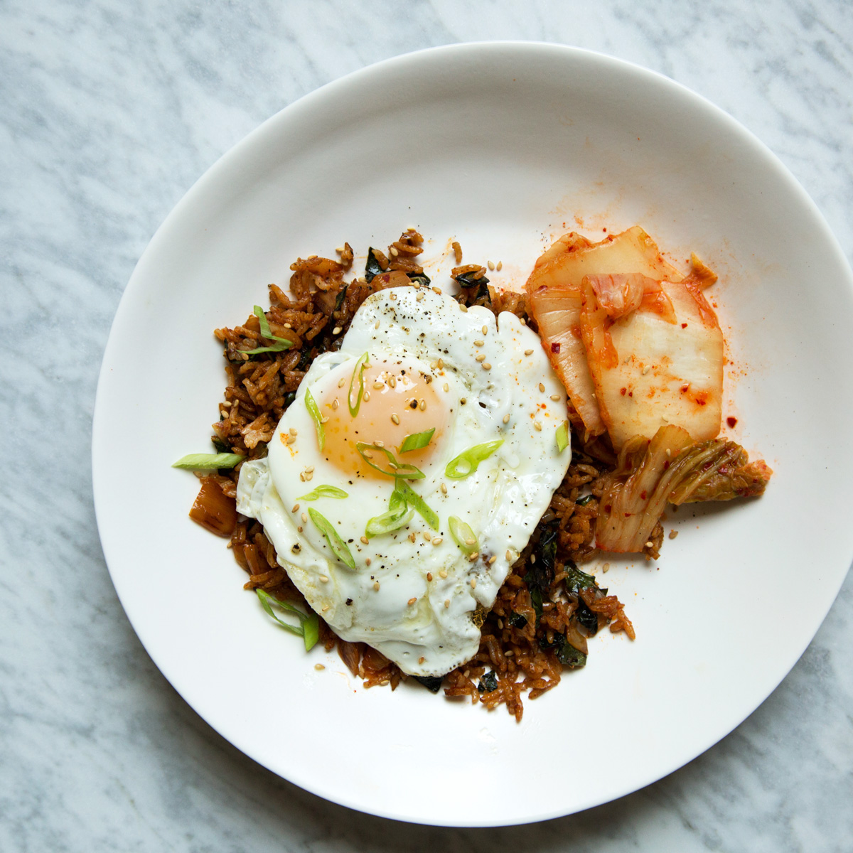 Kimchi-and-Kale Fried Rice