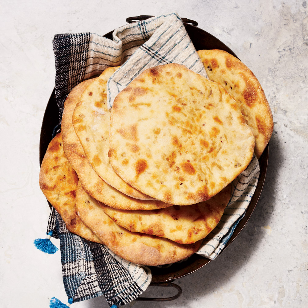 Bacon-Chile Naan
