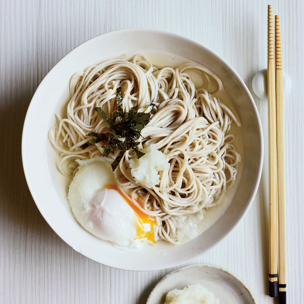 Soba Noodles with Poached Egg