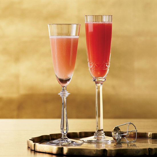 Halloween Cocktails: Blood Peach Bellini
