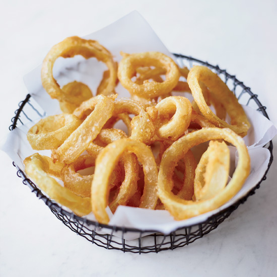 Crisp and Lacy Onion Rings