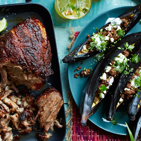 Lamb, Eggplant and Feta-Stuffed Plantains