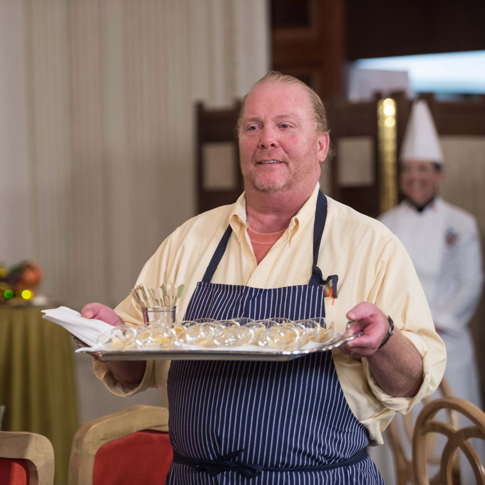 Mario Batali cooked for President Obama's final state dinner.