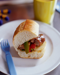 Italian Sausage Heroes with Peppers and Onions