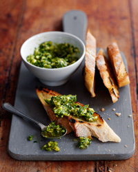 Charred Poblano and Garlic Pesto
