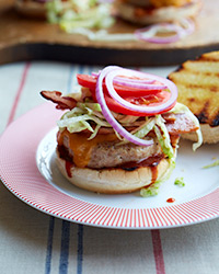 Blue Ribbon Barbecue Chicken Cheeseburgers