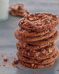 Peanut Butter Chocolate Chip Cookies with Flax