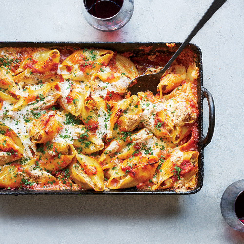 Pork-and-Ricotta Stuffed Jumbo Shells