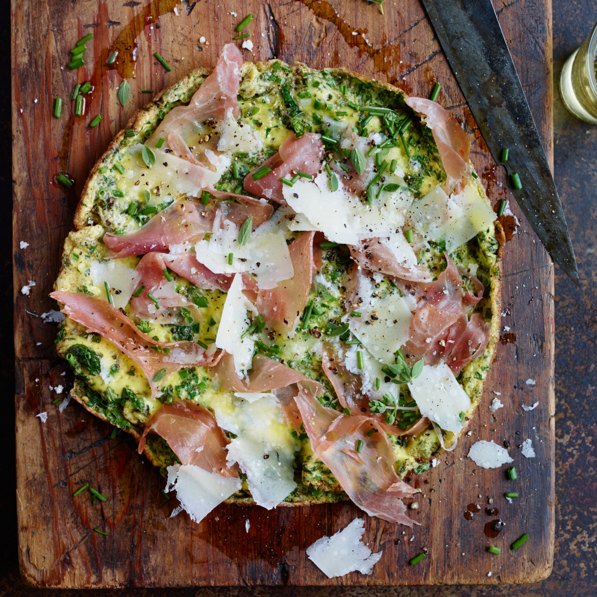 Five-Herb Frittata Prosciutto and Parmesan