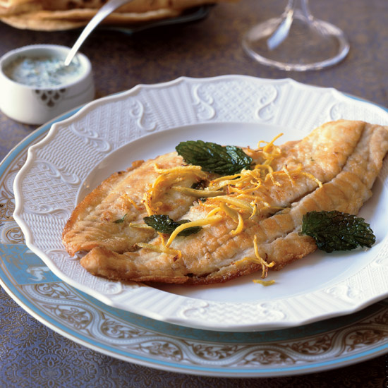 Stuffed Flounder with Frizzled Mint and Ginger