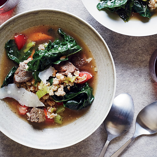 Beef-and-Farro Soup