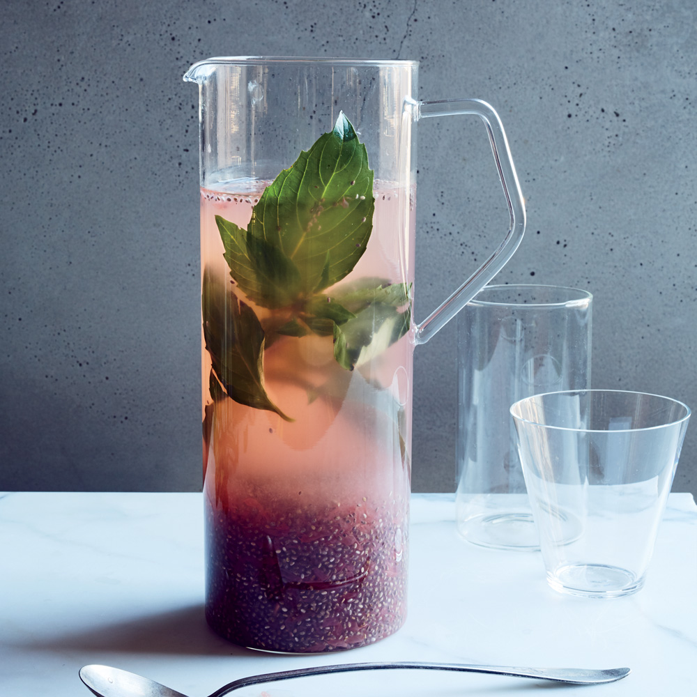 thai basil grapefruit chia health tonic drink