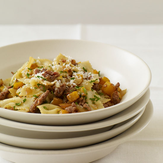 Farfalle with Spicy Sausage and Butternut Squash