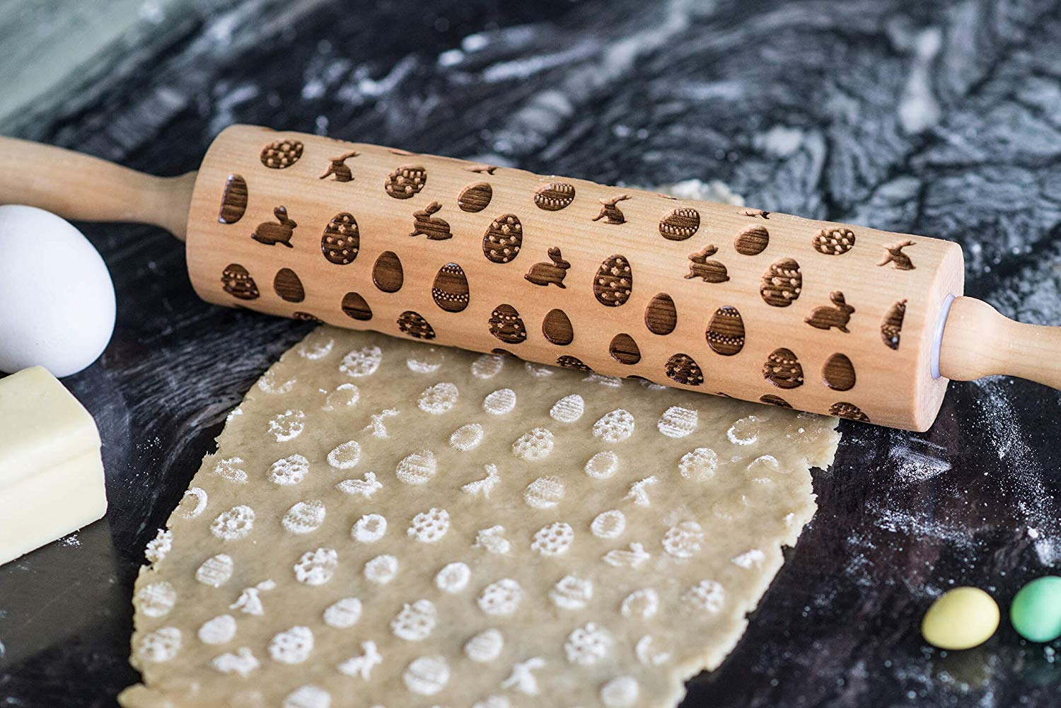 Egg Embossed Rolling Pin