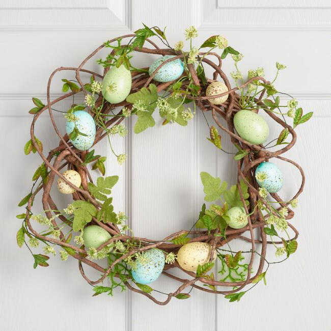 egg and vine wreath