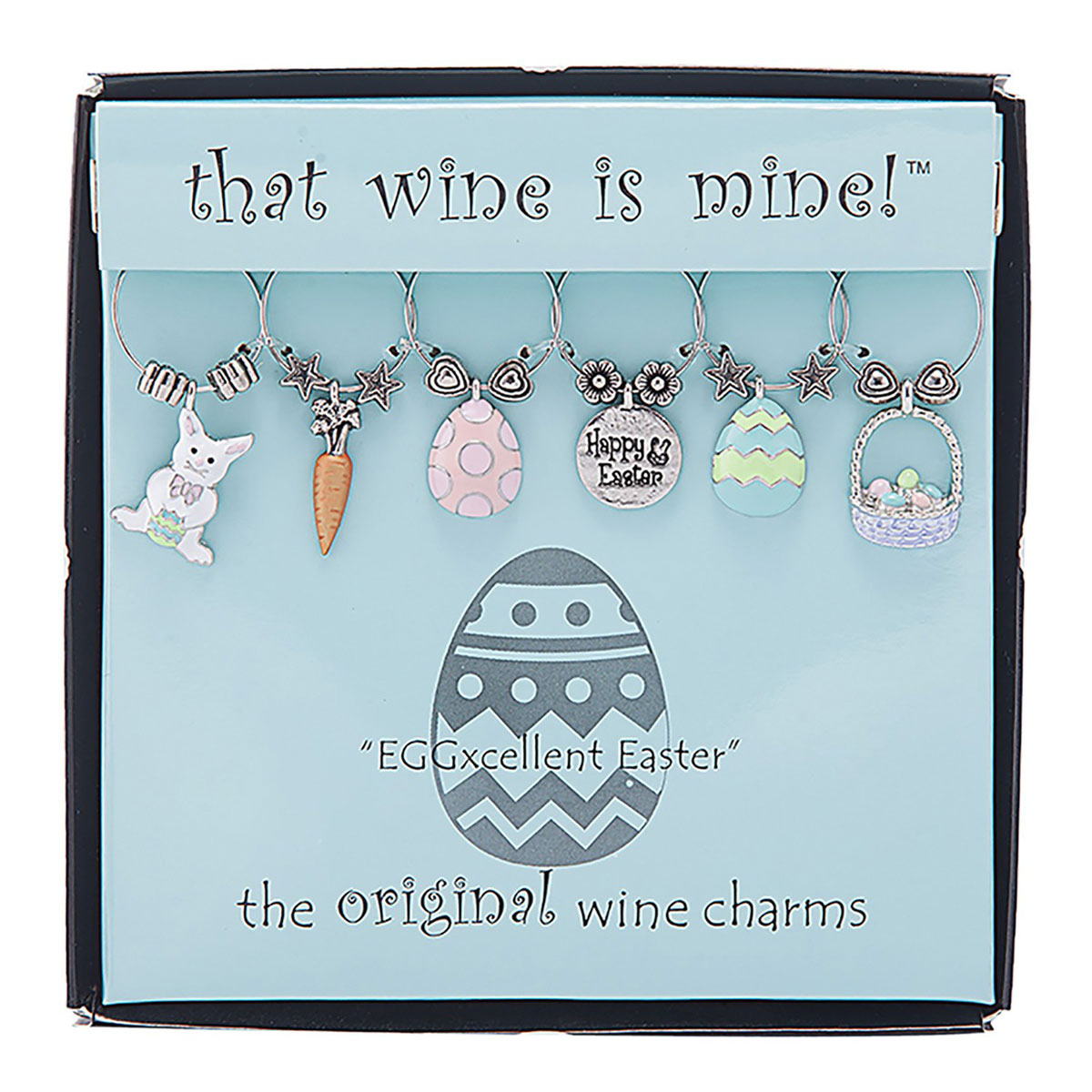easter wine charms