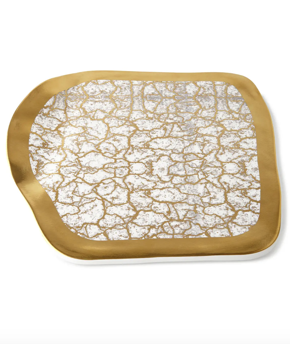 Gold Cheese Tray