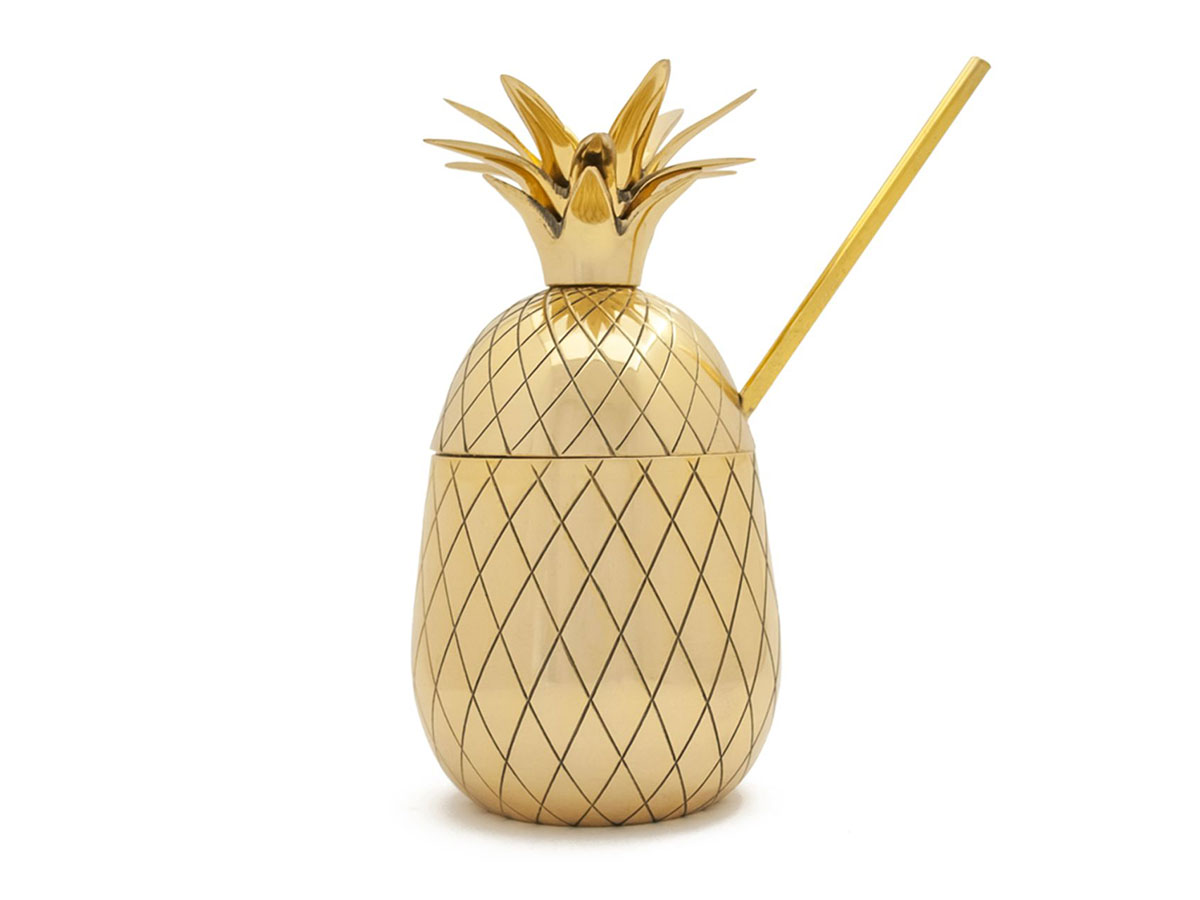 Gold Pineapple Tumbler and Straw